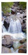 Small Waterfall Near Hwy 120 Roadside In Yosemite Np-ca- 2013 Beach Towel
