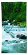Small Waterfall On The Paradise River Beach Towel