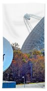 Smiley And 26 West Antennas Beach Towel