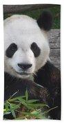 Smiling Giant Panda Beach Towel