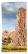 Smith Rock And The Crooked River Beach Towel