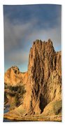 Smith Rock Foggy Morning Beach Towel