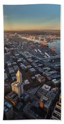 Smith Tower And West Seattle Beach Towel