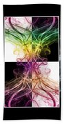 Smoke Art Triptych Beach Towel
