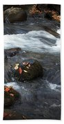 Smokey Mountain Stream In Autumn No.2 Beach Towel