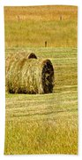 Smoky Mountain Hay Beach Towel by Frozen in Time Fine Art Photography
