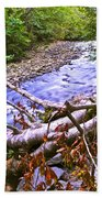 Smoky Mountain Stream Two Beach Towel