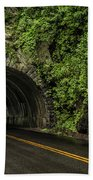 Smoky Mountain Tunnel In The Rain E123 Beach Towel