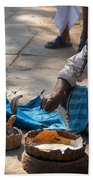 Snake Charmer Hampi Bazaar Beach Towel