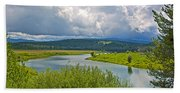 Snake River By Oxbow Bend In Grand Teton National Park-wyoming Beach Towel