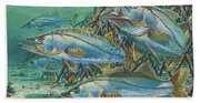 Snook Attack In0014 Beach Towel