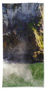 Snoqualime Falls And Pool Beach Towel