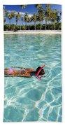 Snorkeling In Polynesia Beach Towel