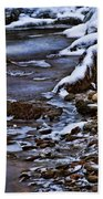 Snow And Ice Water And Rock Beach Towel by Dale Kincaid
