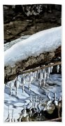 Snow And Icicles No. 1 Beach Towel
