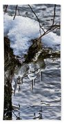 Snow And Icicles No. 2 Beach Towel