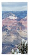 Snow At The Grand Canyon Beach Towel