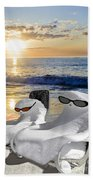 Snow Bird Vacation Beach Towel