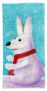 Snow Bunny Beach Towel