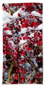Snow Capped Berries Beach Towel