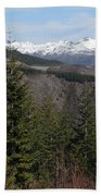 Snow Capped View Beach Towel