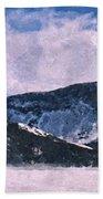 Snow Clouds - Winter - Ice Beach Towel