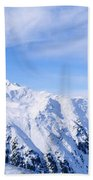 Snow Covered Alps, Schonjoch, Tirol Beach Towel