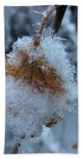 Snow Crystals Beach Towel