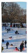 Snow Day - Fun Day At The Park Beach Towel