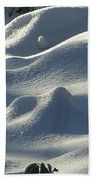 Snow Dunes Beach Towel