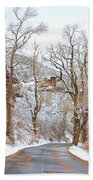 Snow Dusted Colorado Scenic Drive Beach Towel