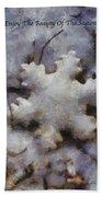 Snow Flake Enjoy The Beauty Photo Art Beach Towel