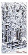 Snow-img-2174-merry Christmas Beach Towel