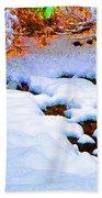Snow In Color Beach Towel