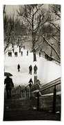 Snow In London Beach Towel