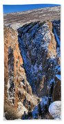 Snow In The Black Canyon Beach Towel