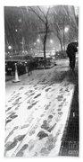 Snow In The City Beach Towel