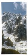 Snow In The Dolomites Beach Towel