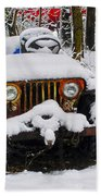 Snow Jeep Beach Towel