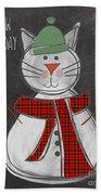 Snow Kitten Beach Towel