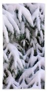Snow Laden Branches Beach Towel