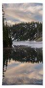 Snow Lake Last Fog Beach Towel