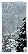 Snow Landscape Beach Towel