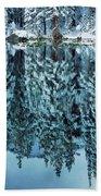 Snow Mirror Beach Towel