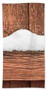 Snow On Fence Beach Towel by Tom Gowanlock