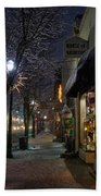Snow On G Street 3 - Old Town Grants Pass Beach Towel