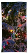 Snow On The Christmas Tree 1 Beach Towel