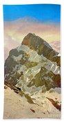 Snow Peaks Of Mount Titlis Beach Towel