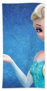 Snow Queen Elsa Frozen Beach Towel