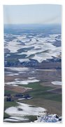 Snow Remnants On The Palouse Beach Towel